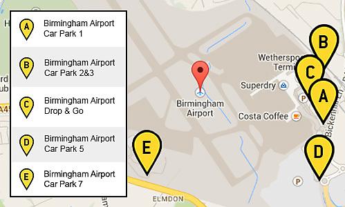 Birmingham Airport Car Park Map Birmingham Airport Name Change