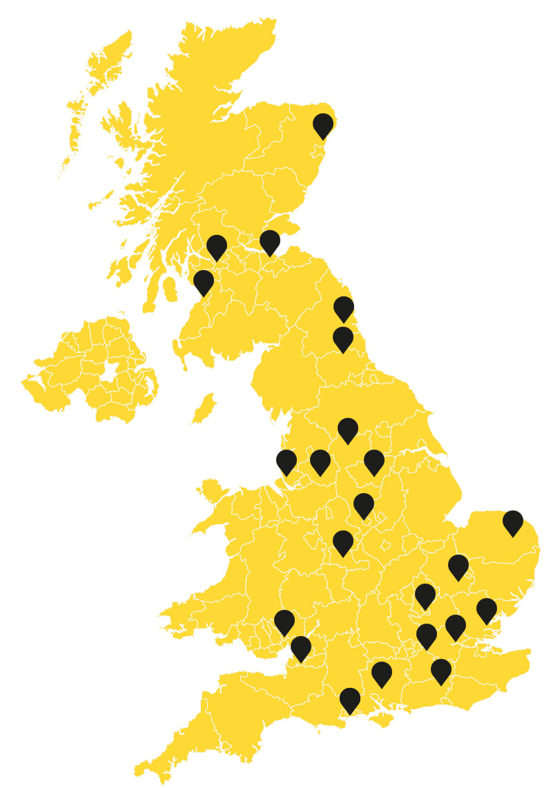 NCP Partner map