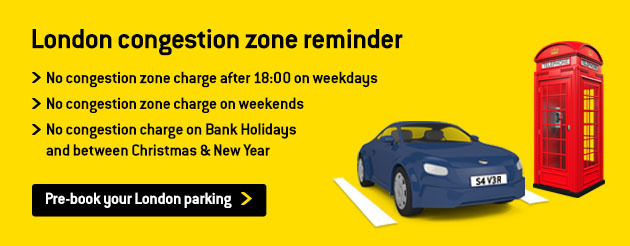 London Congestion Charge Zone information banner