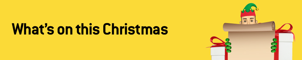 Christmas - what's on banner 1