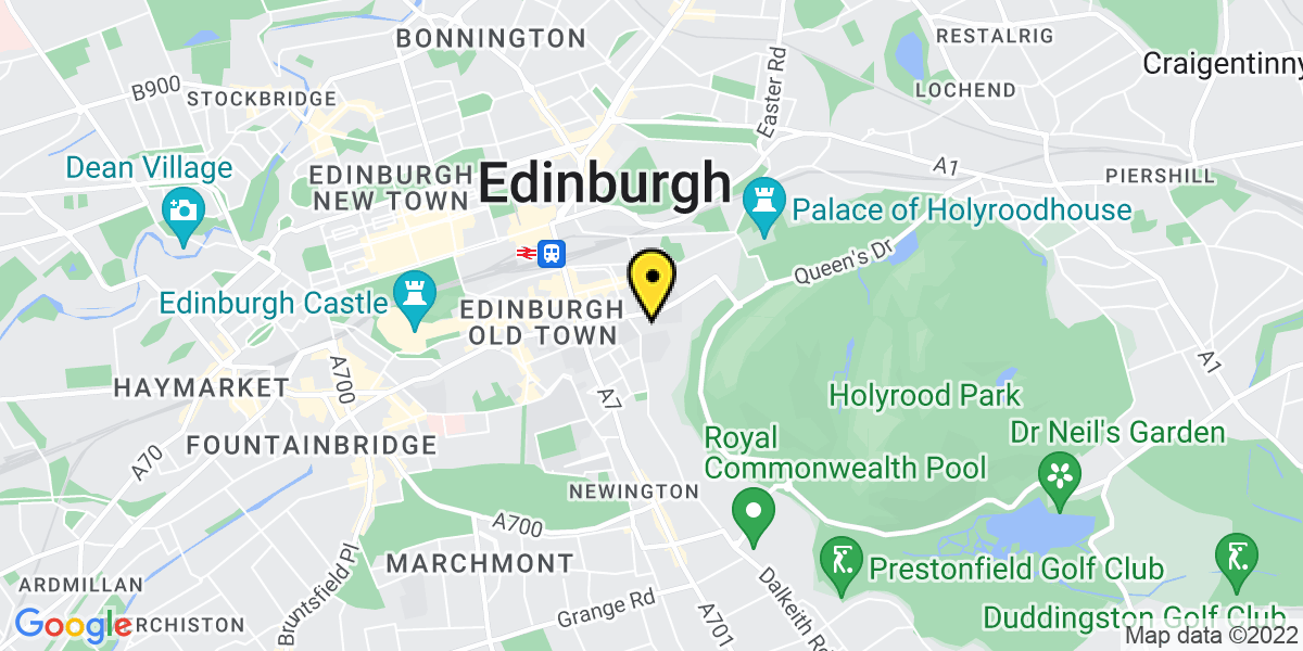 Map of Edinburgh Holyrood Road
