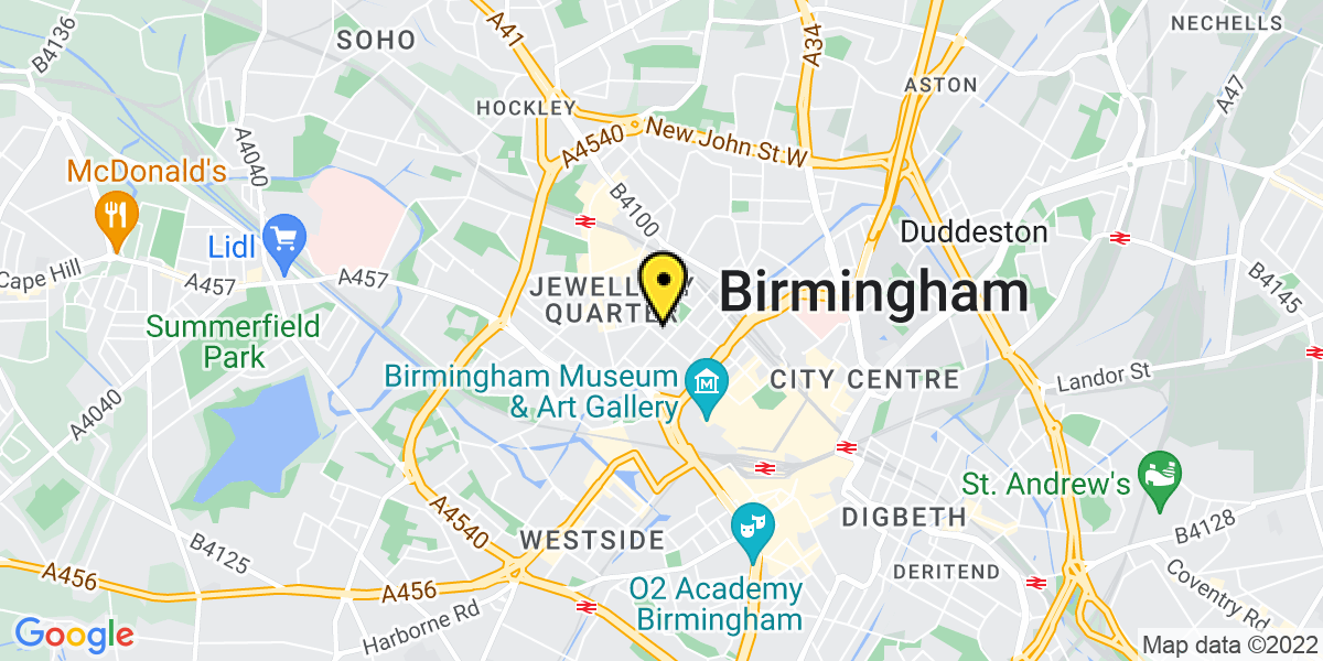 Map of Birmingham Newhall Street