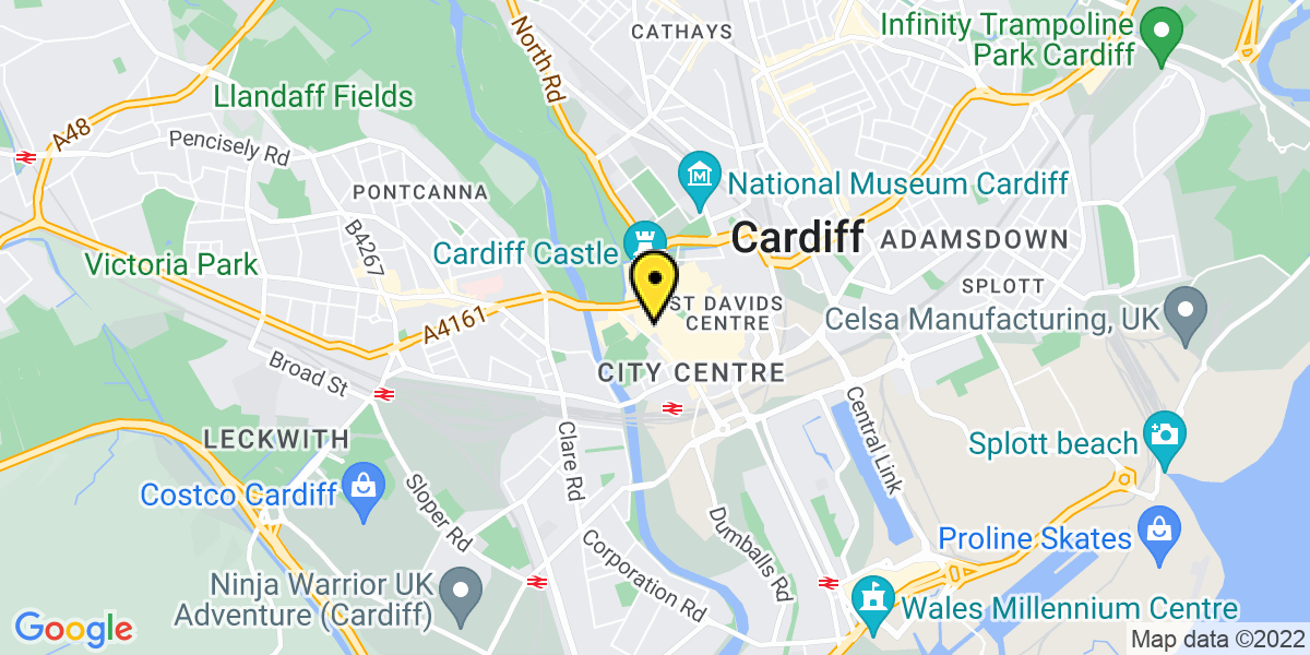 Map of Cardiff Westgate Street