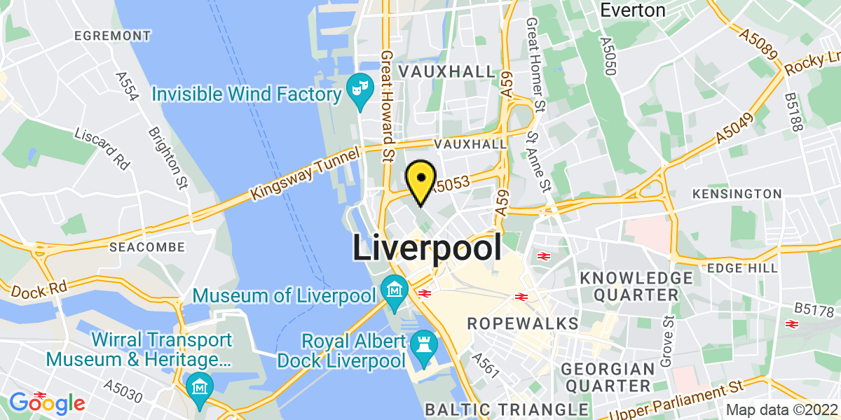 Map of Liverpool Pall Mall