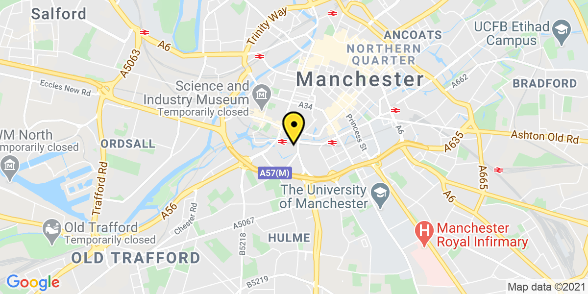 Map of Manchester Bridgewater Hall
