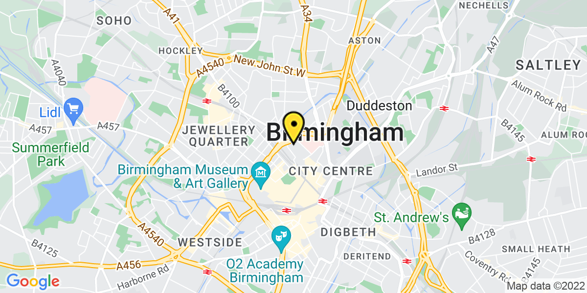 Map of Birmingham Royal Angus