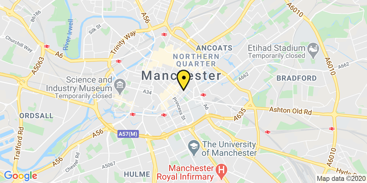 Map of Manchester Chorlton Street
