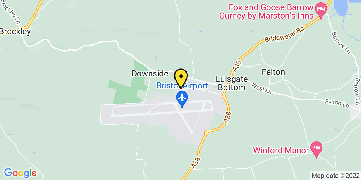 Map of Bristol Airport Meet and Greet