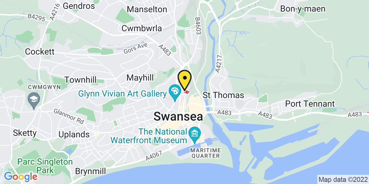 Map of Swansea Station (TFW)
