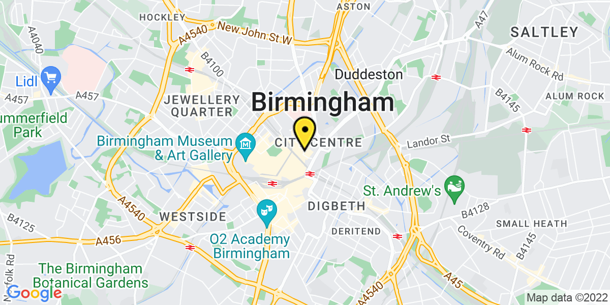 Map of Birmingham High Street
