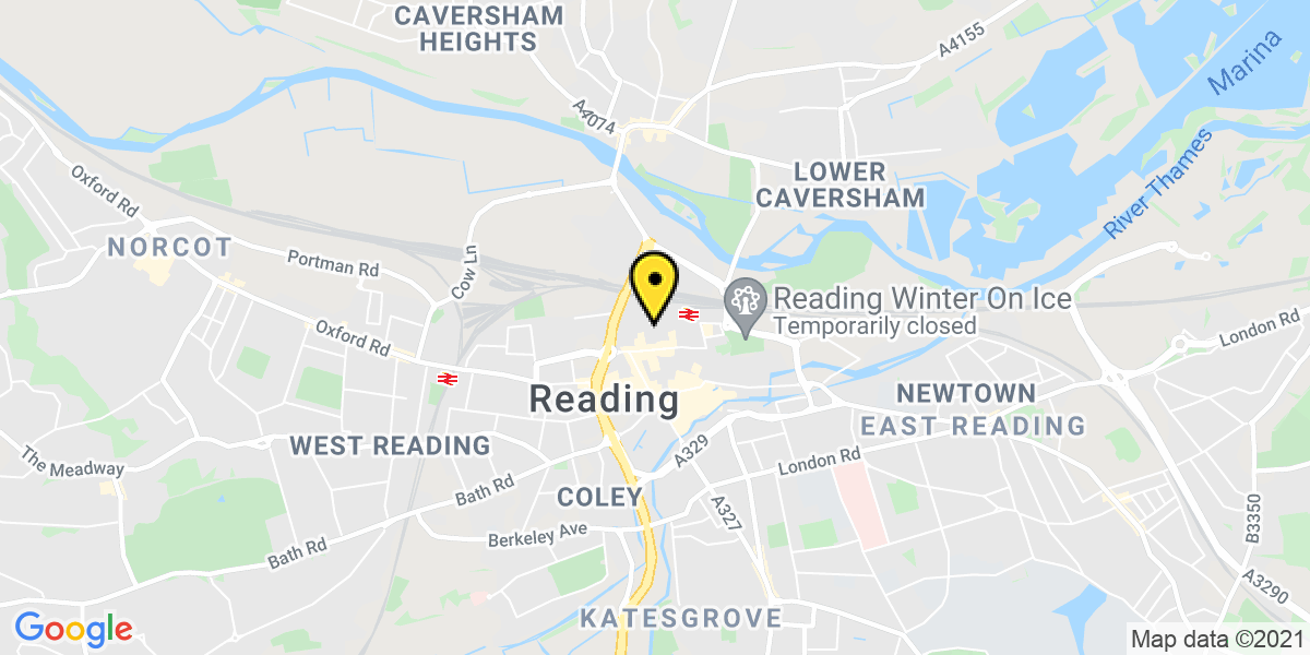 Map of Reading Garrard Street