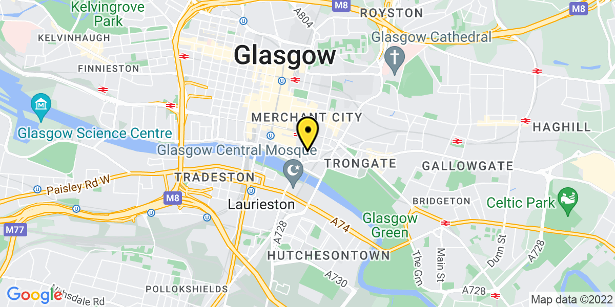 Map of Glasgow King Street