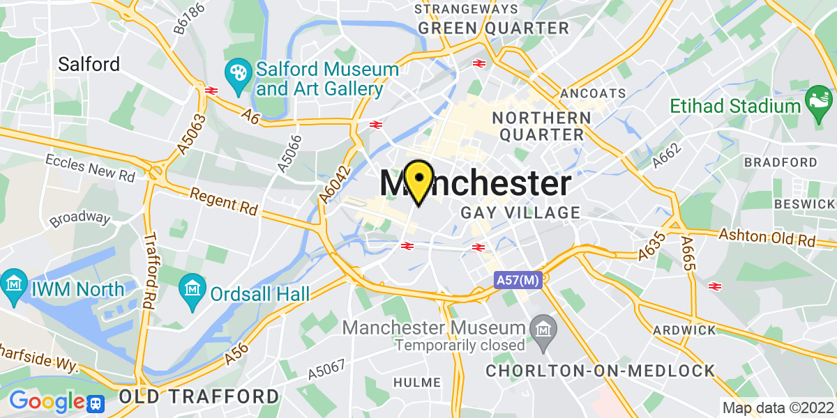 Map of Manchester Gt Northern Warehouse 1