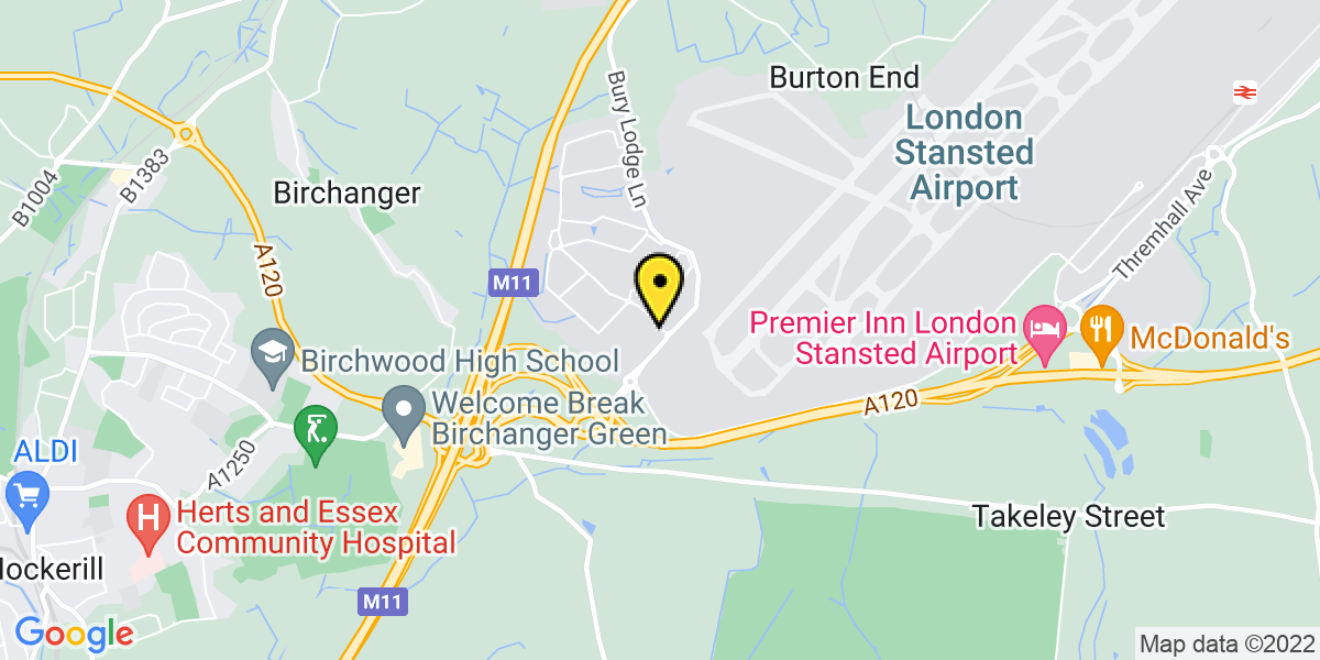 Map of Stansted Airport Jet Parks