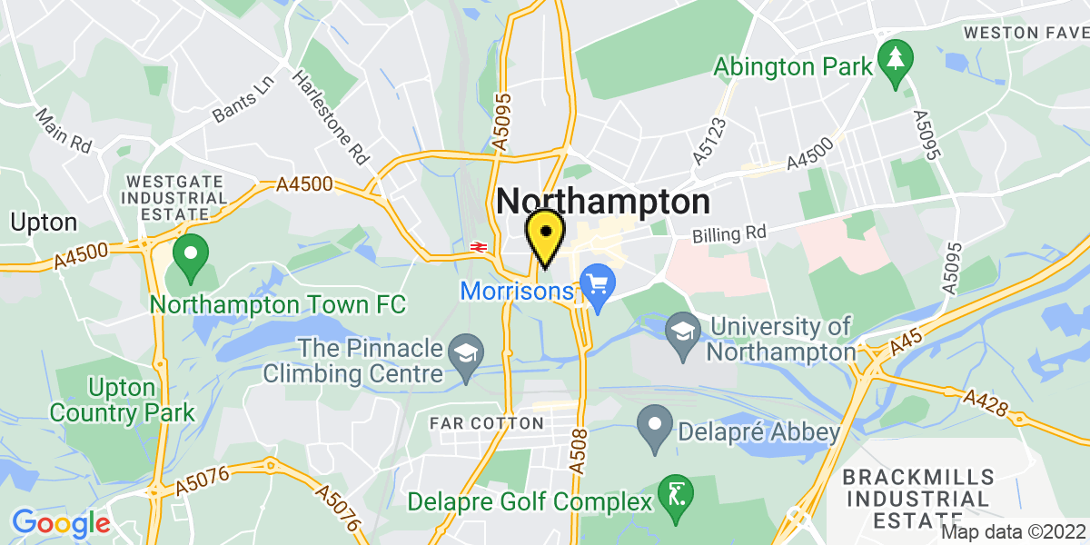 Map of Northampton St Peters Way