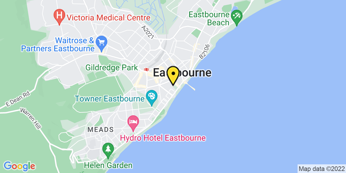 Map of Eastbourne Trinity Place