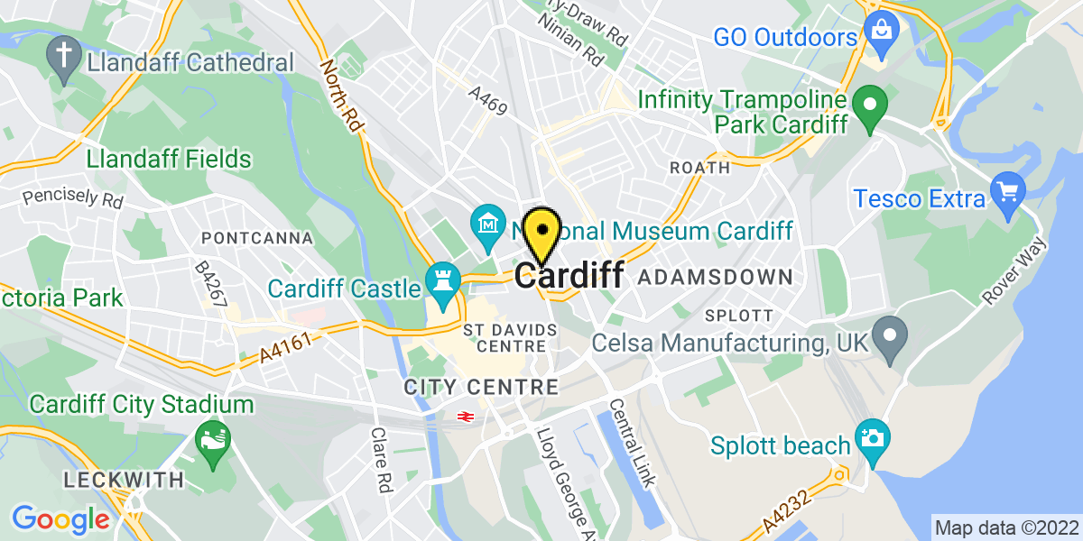 Map of Cardiff Dumfries Place
