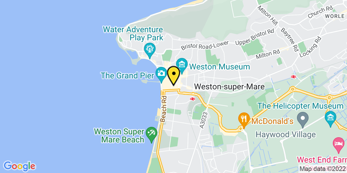 Map of Weston-Super-Mare High Street