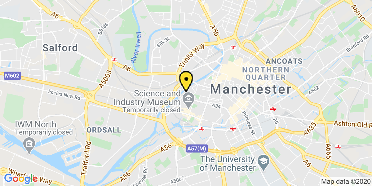 Map of Manchester Spinningfields