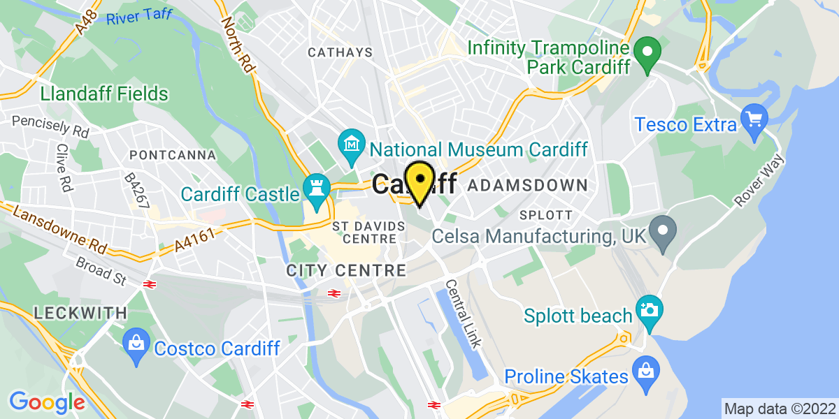 Map of Cardiff Knox Road