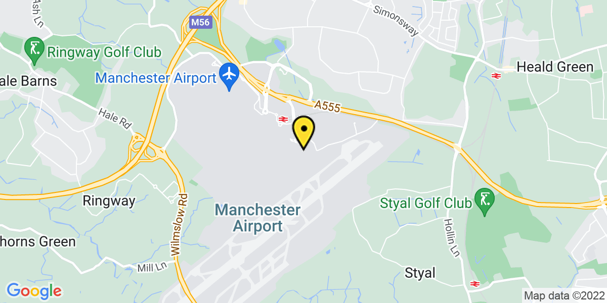 Map of Manchester Airport Short Stay T3
