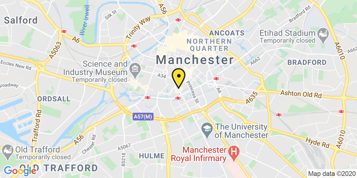 Map of Manchester Oxford Street