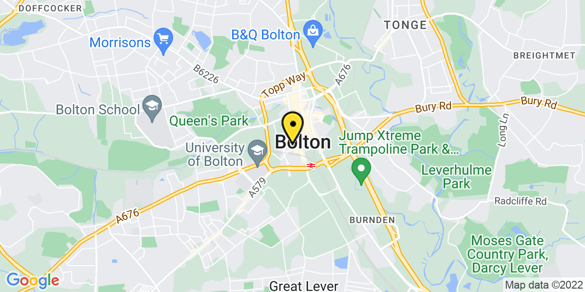 Map of Bolton Octagon Theatre MSCP