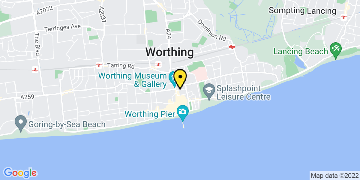 Map of Worthing Union Place