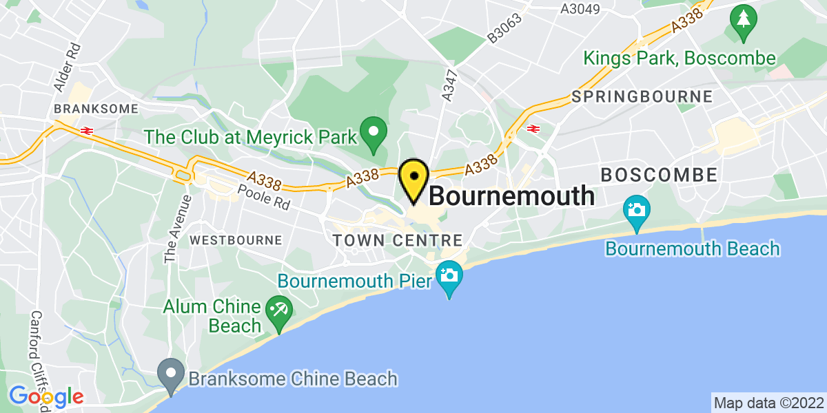 Map of Bournemouth The Square