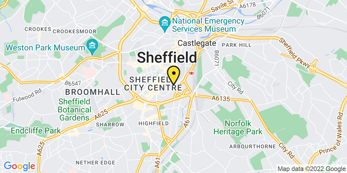 Map of Sheffield Sidney Street