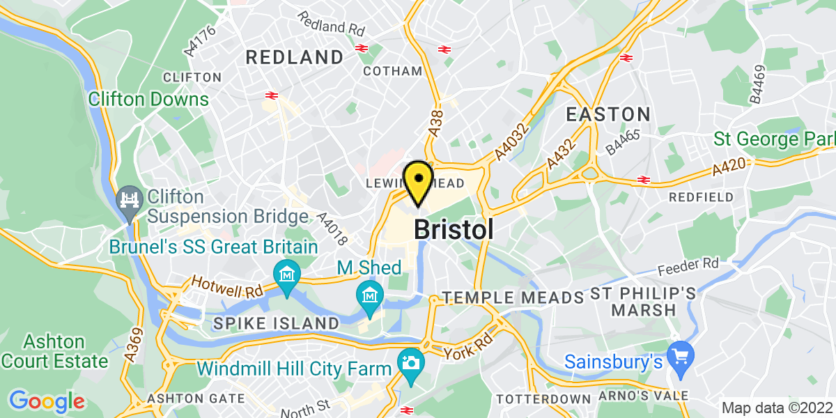 Map of Bristol Nelson Street MSCP