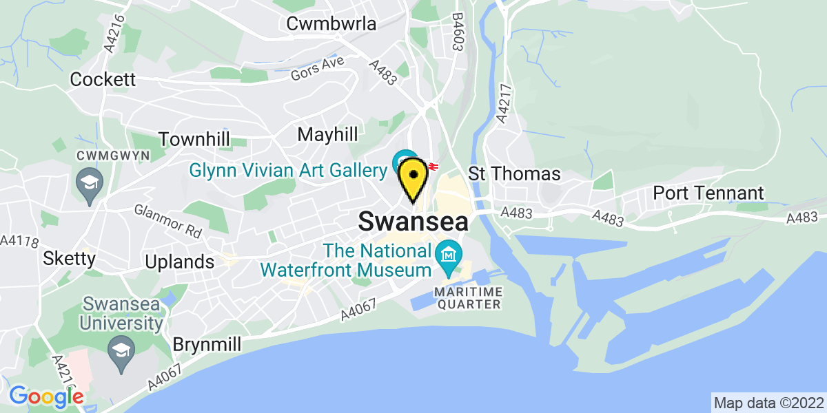 Map of Swansea Orchard Street