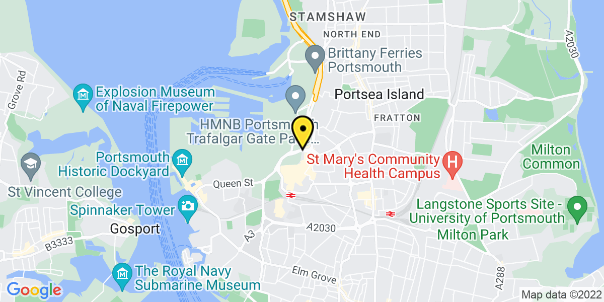 Map of Portsmouth Market Way