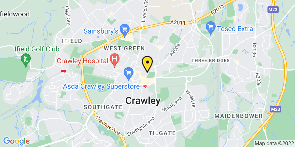 Map of Crawley Parkside
