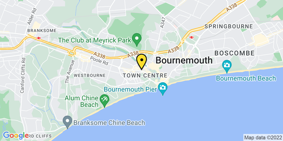 Map of Bournemouth Terrace Road