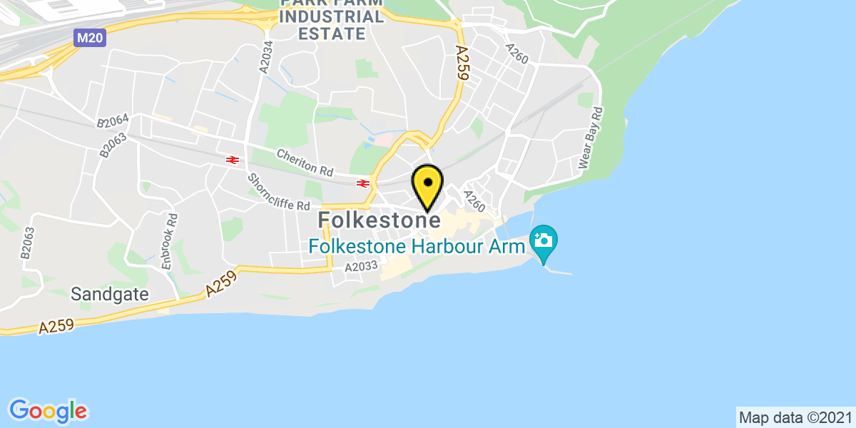 Map of Folkestone Middelburg Square