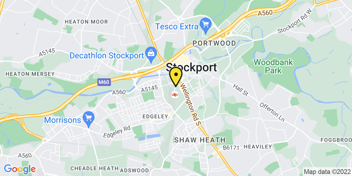 Map of Stockport Exchange Short Stay 1