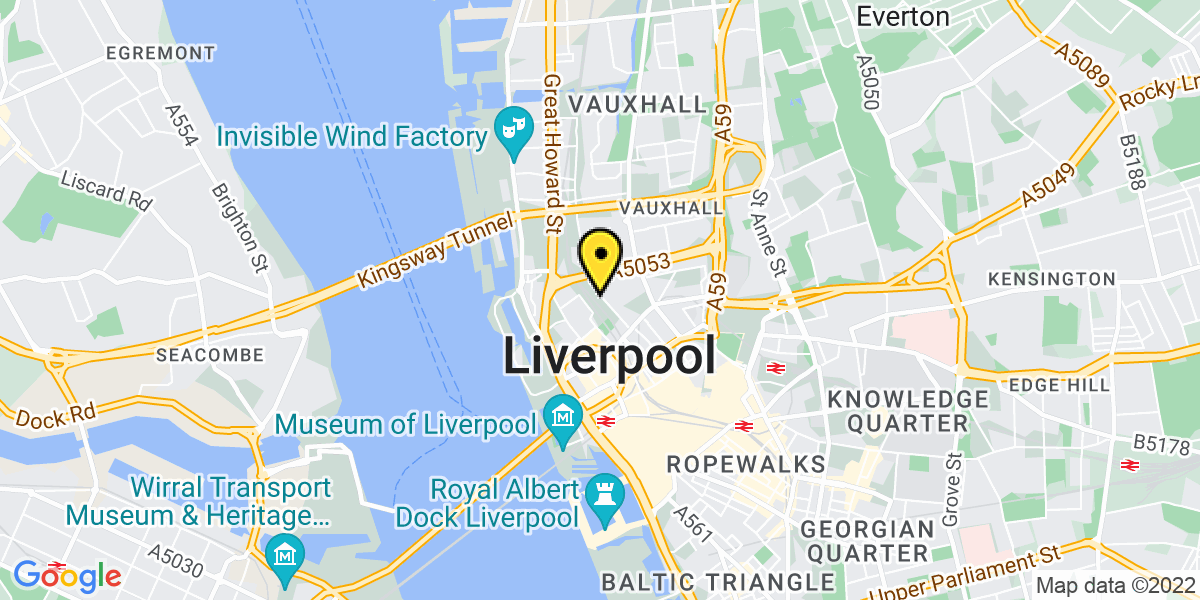 Map of Liverpool The Arches