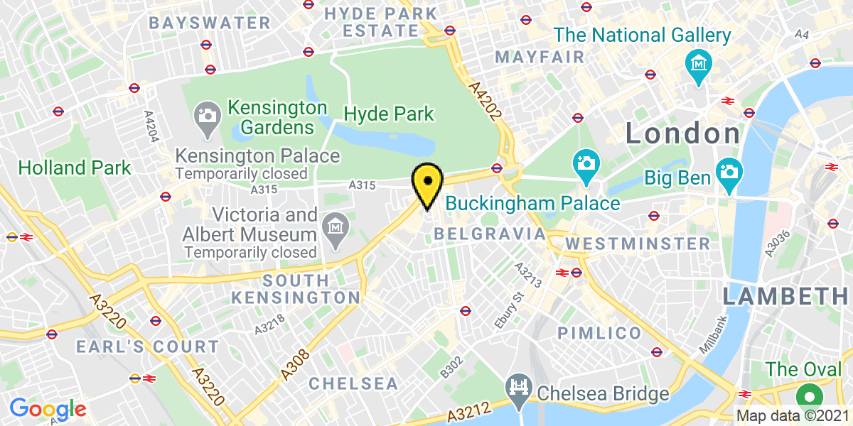 Map of London Pavilion Road