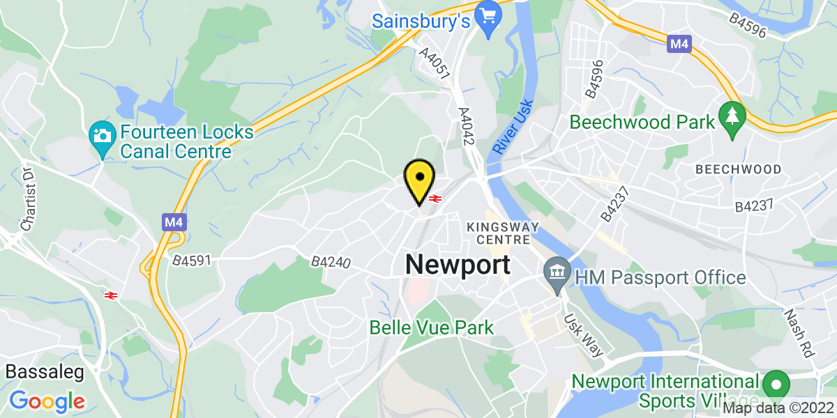 Map of Newport Station (TFW)