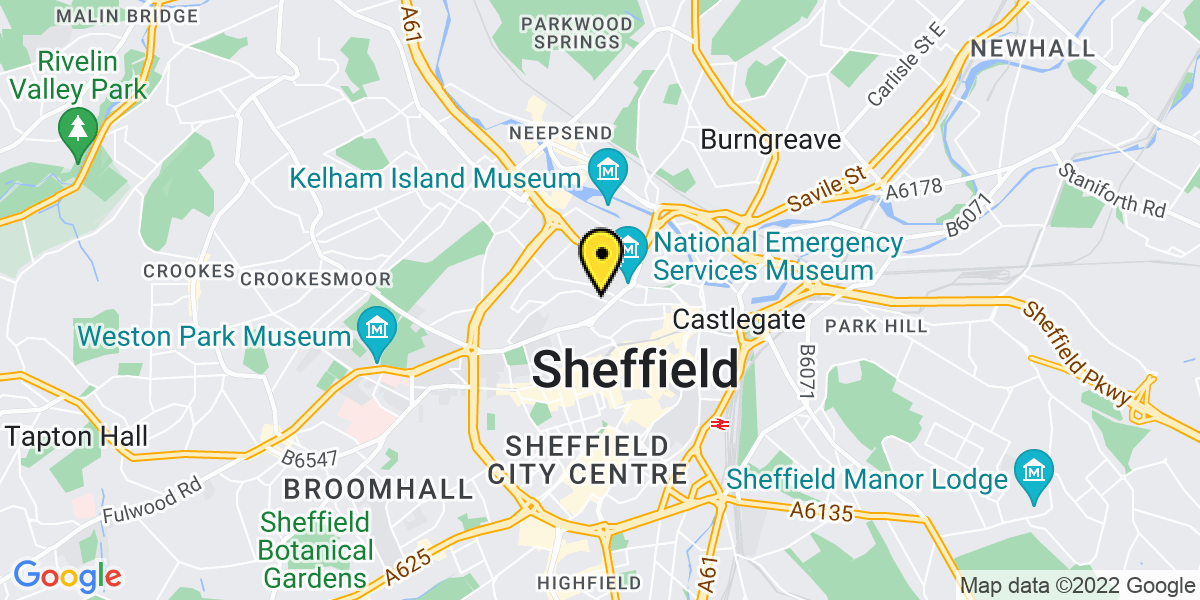 Map of Sheffield Solly Street