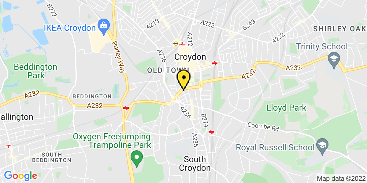 Map of Croydon Wandle