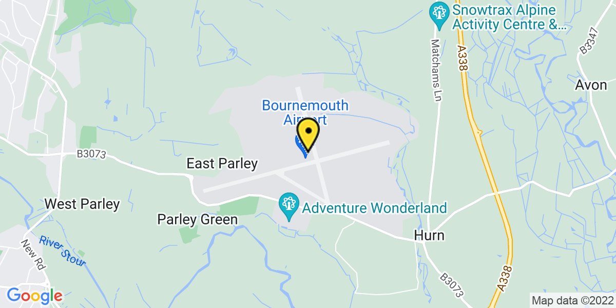 Map of Bournemouth Airport Car Park 2