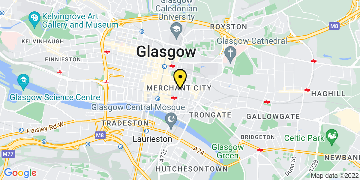 Map of Glasgow The Glasshouse