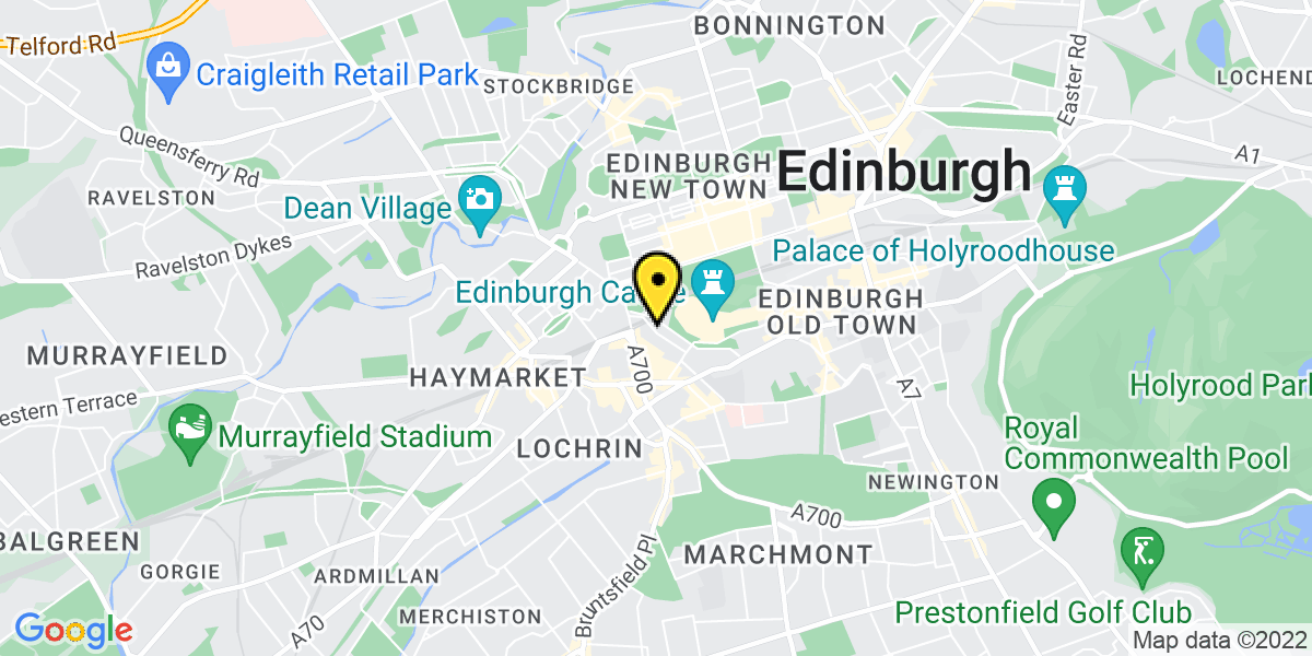 Map of Edinburgh Castle Terrace