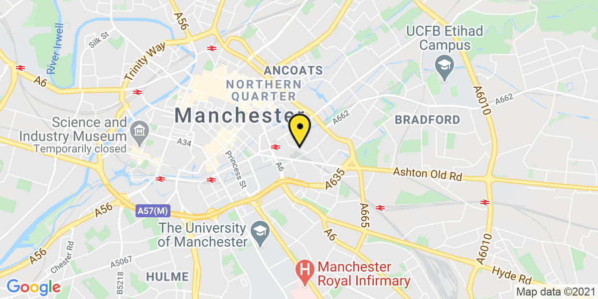 Map of Manchester Sheffield Street