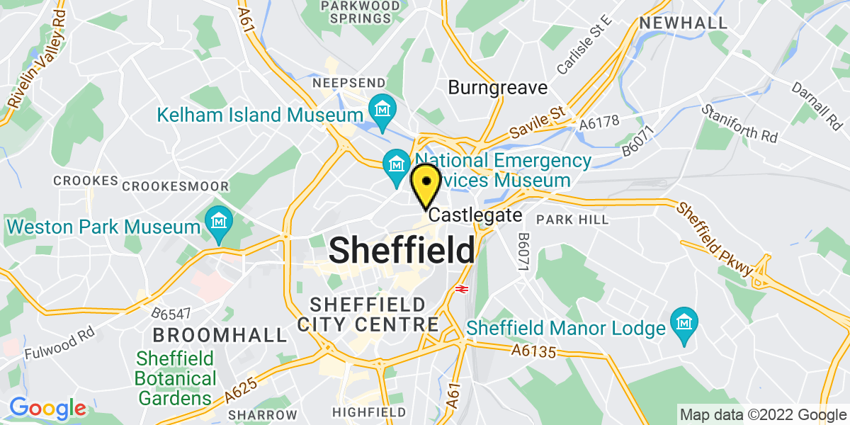 Map of Sheffield Hartshead Square