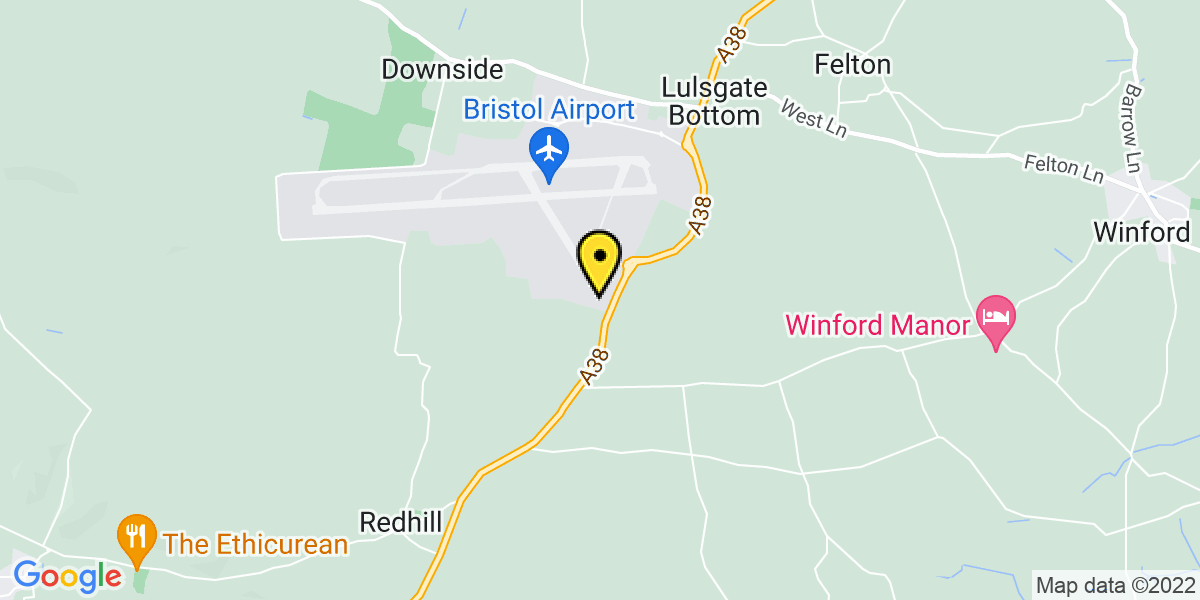 Map of Bristol Airport Silverzone