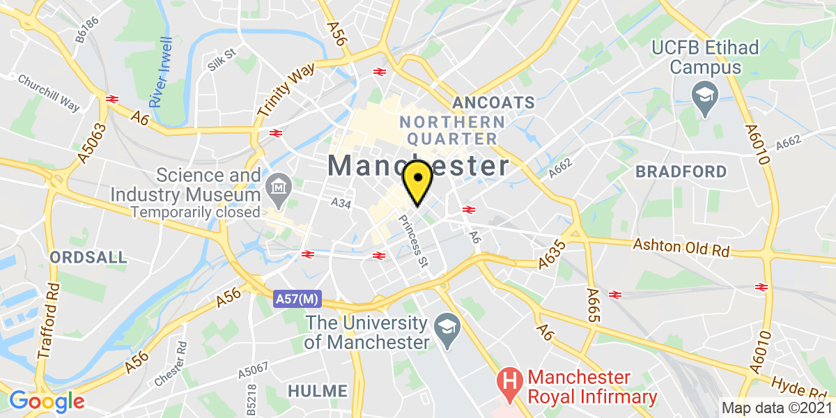 Map of Manchester Bloom Street