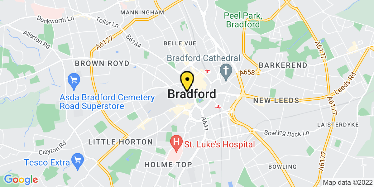 Map of Bradford Southgate
